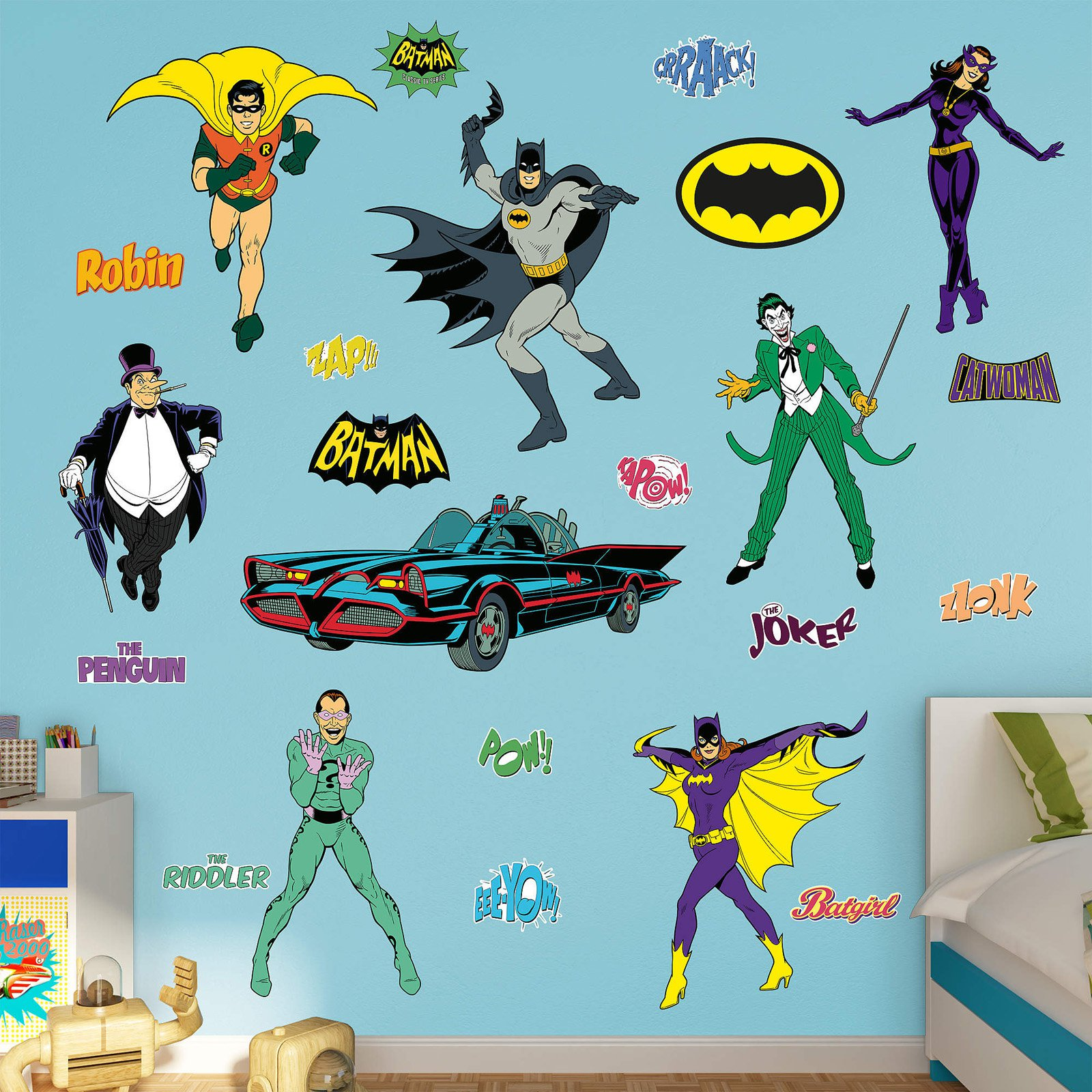 Fathead Batman Classic Comic Book Wall Decal Collection