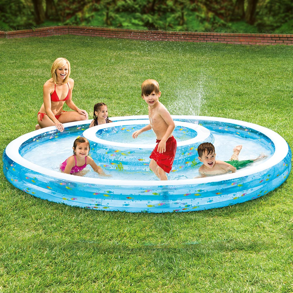 Intex Inflatable Wishing Well Pool With Sprayer
