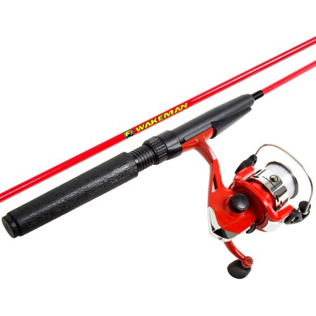 - Wakeman Spawn Series Spinning Combo and Tackle Set, Fire Red