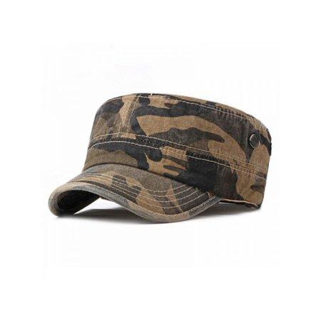 Topumt Men's Camouflage Baseball Cap Hat Jungle Sailor Navy Cap Outdoor Hat Trucker Platte Caps - Sailors Caps