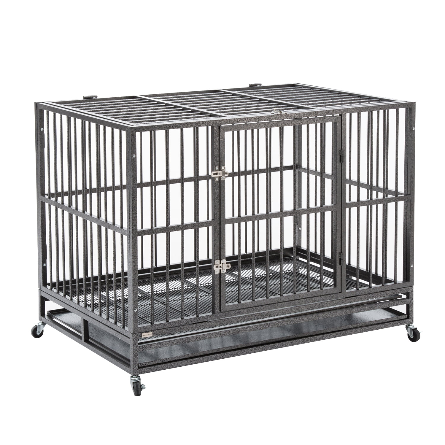 "37"" 42'' 48"" Heavy Duty Dog Cage Crate Kennel Metal Pet Playpen Portable w  Tray by"