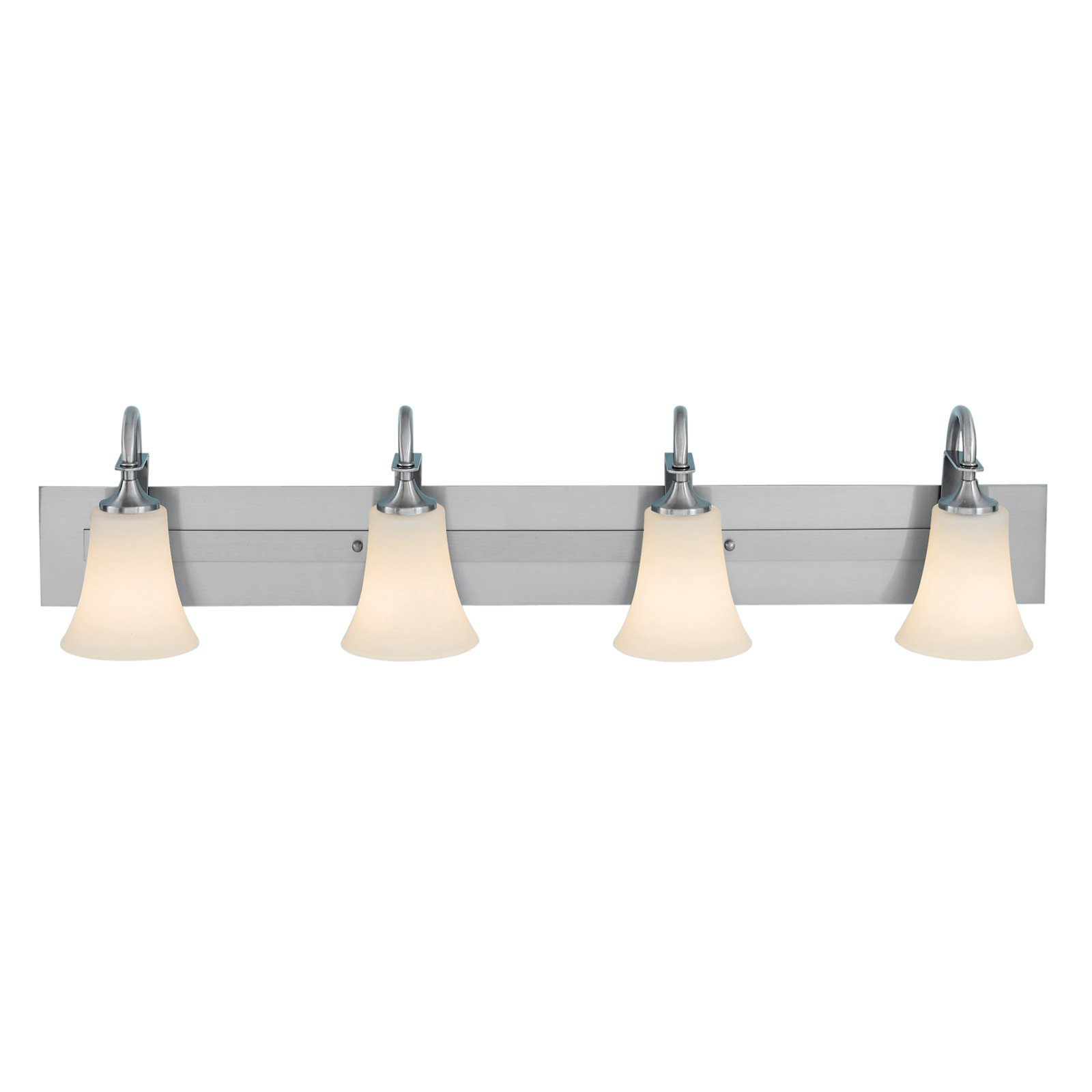 Feiss Barrington Bathroom Wall Light 37W in. Brushed Steel by Murray Feiss
