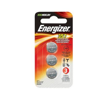 Energizer Silver Oxide Watch/Electronic Battery 357, 3-Count (Pack of 3) ()
