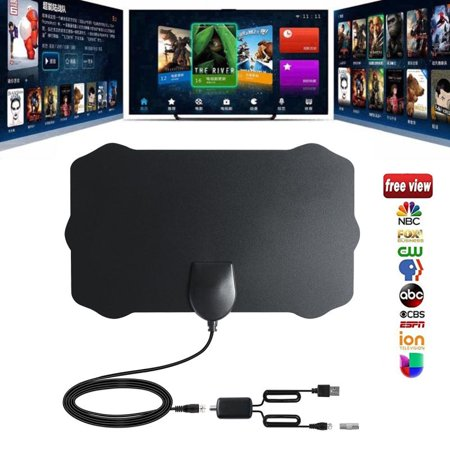 120 Miles Antena 1080P Digital HDTV Indoor TV Antenna with Amplifier Signal Booster TV Radius Surf Fox Antena HD TV Antennas Aerial
