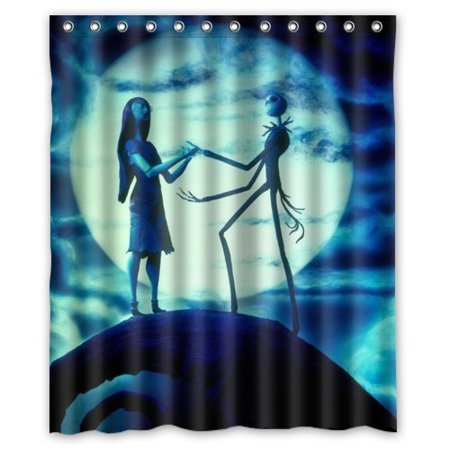 DEYOU Jack Skellington The Nightmare Before Christmas Shower Curtain Polyester Fabric Bathroom Size 60x72
