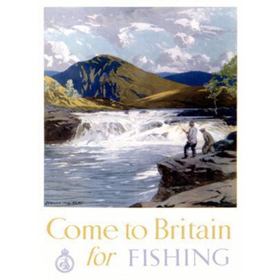 "ArteHouse Fine Art Print ""British Auto Club Fly Fishing"", Archival Paper, 24"" x 36"""
