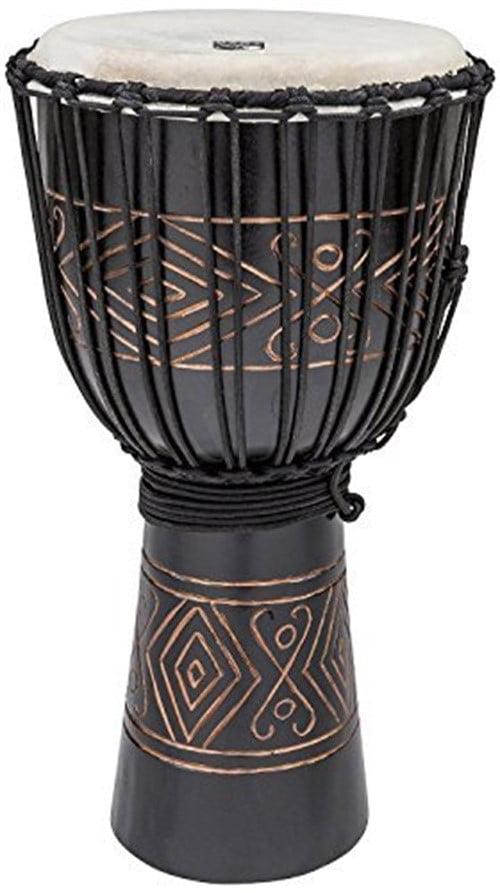 """Toca 12"""" Street Series Carved Djembe, Black Onyx by Toca"""