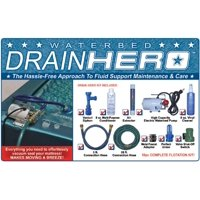 Drain Hero Complete Drain Kit for Waterbed Flotation Mattress