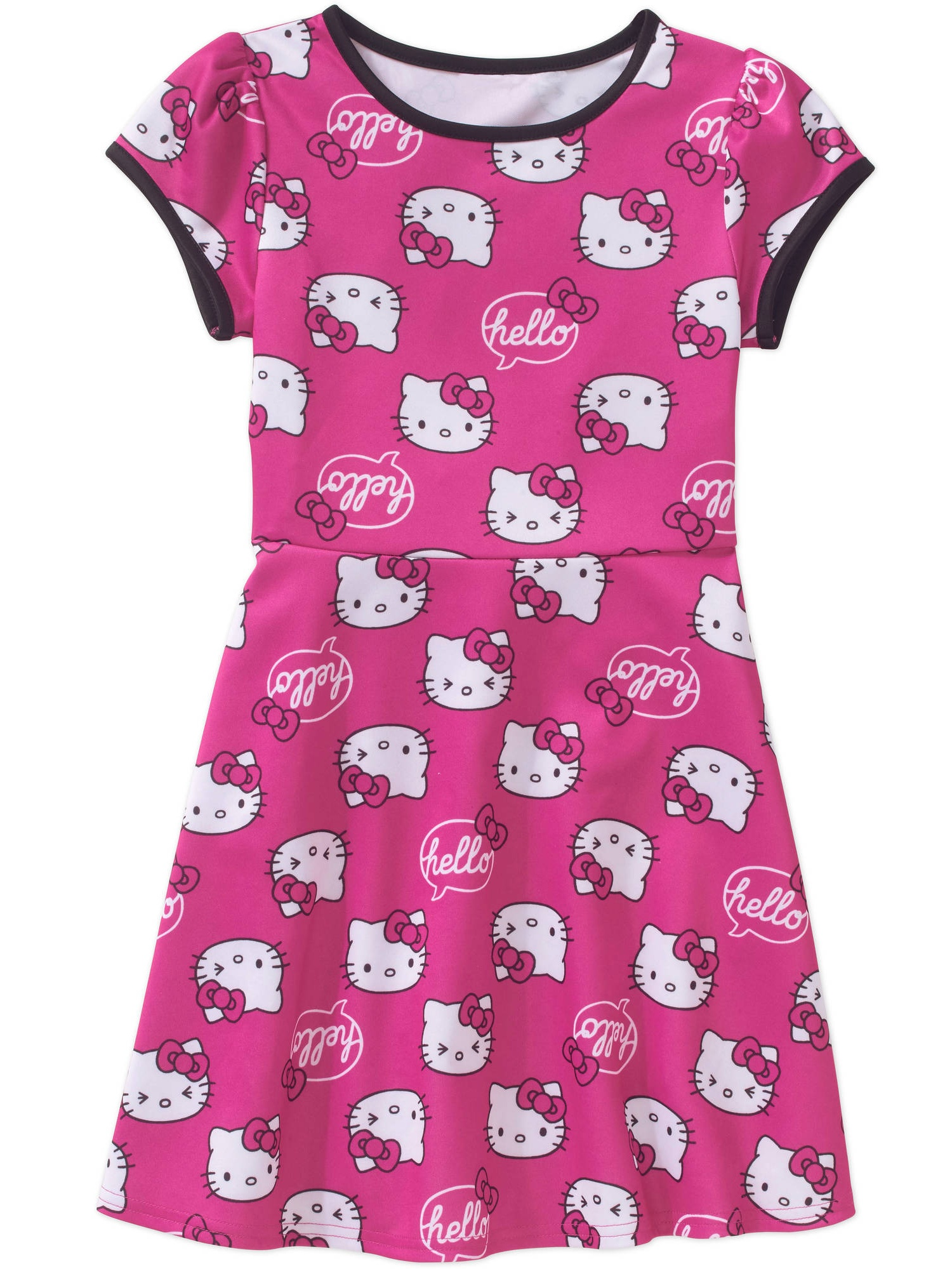 Girls Hk Expressions Scuba S/s Dress