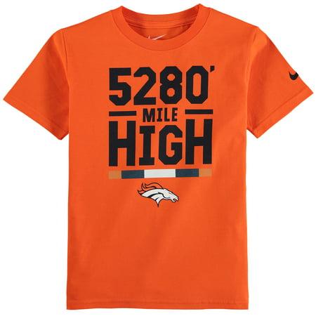 Denver Broncos Nike Youth Verbiage T-Shirt - Orange Denver Broncos Youth Short