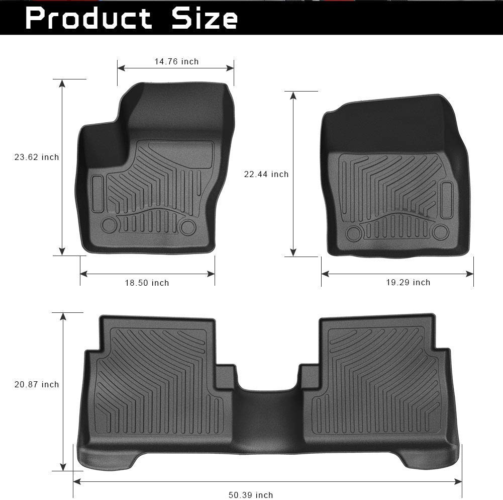 HEAVYDUTY RUBBER CAR MATS SET for FORD GRAND C-MAX 10-On