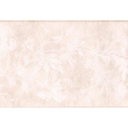 Wallpaper For Less KH5898B Floral Border Cream White
