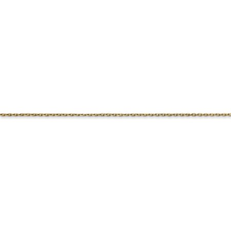 14k Yellow Gold .8mm Link Cable Chain Necklace 18 Inch Pendant Charm Round Fine Jewelry For Women Gifts For Her - image 3 de 9