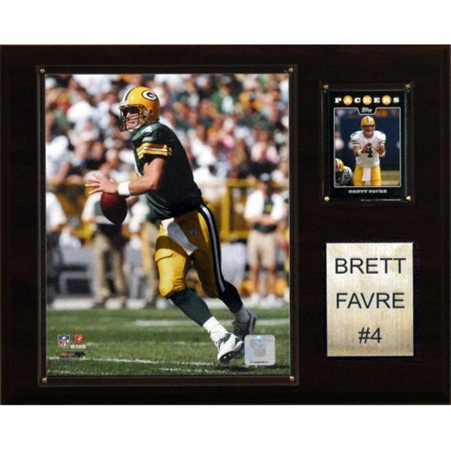 C & I Collectables 1215FAVREGB NFL Brett Favre Green Bay Packers Player Plaque