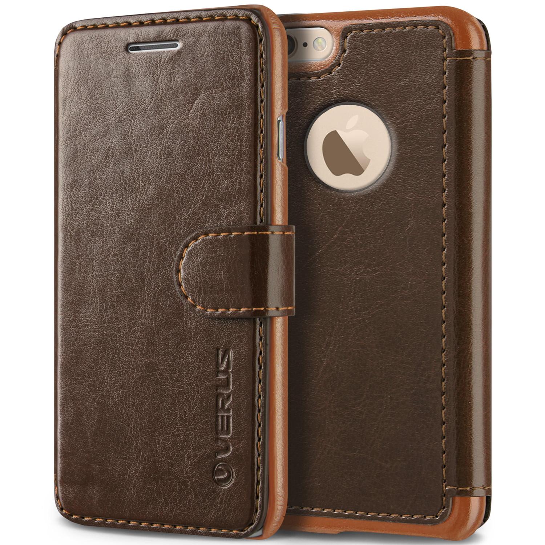 Apple iPhone 6S Plus Case, Verus Layered Dandy - PU Leather Wallet, 3 Card Slots, Slim Fit