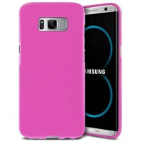 Samsung Galaxy S8 Plus Case, Slim & Flexible Anti-shock Crystal Silicone Protective TPU Gel Skin Case Cover [Pink]