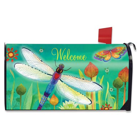 - Dragonfly Dream Spring Magnetic Mailbox Cover Standard Briarwood Lane