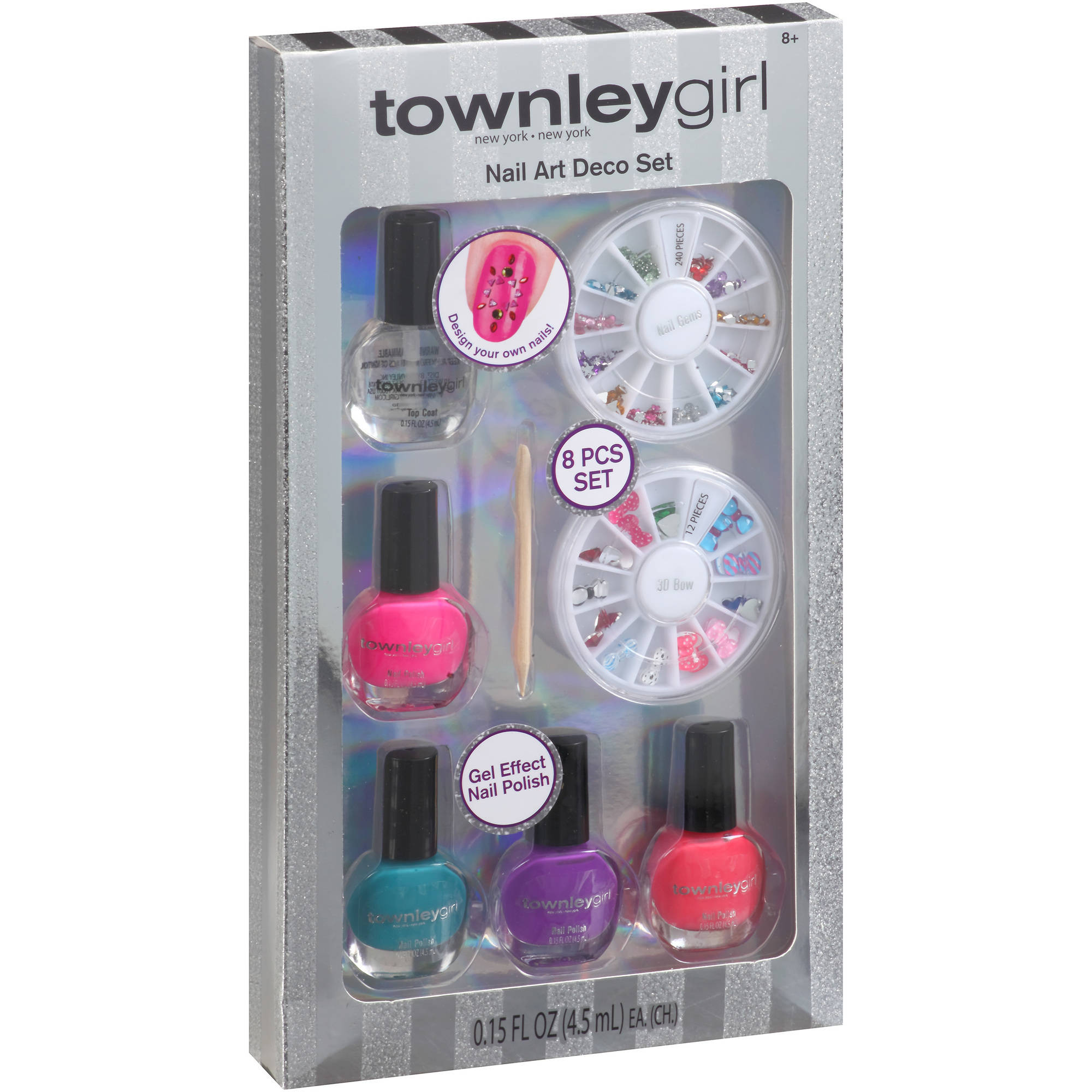 Cosmetics Townleygirl Nail Art Set With Nail Deco - Walmart.com