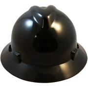 Best MSA Hard Hats - MSA C217374 Polyethylene V-Gard Fas-Trac Suspension Hat, Black Review
