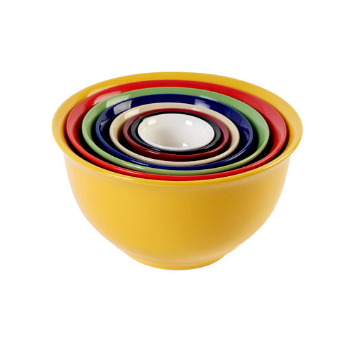 Gibson Sensations II 8-Piece Nesting Bowl Set, Rainbow