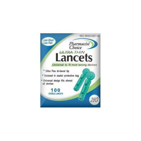Simple Diagnostics Pharmacist Choice Twist Top 28G Lancets (pack of 100)