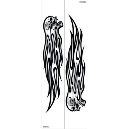 Pilot Automotive GRP-521 7 x 40 in. Flaming Skull 2 Sheets Decal - image 1 of 1