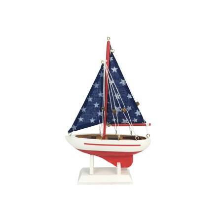 handcrafted nautical decor starry night model sailboat
