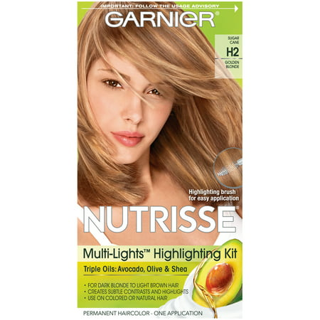 Garnier Nutrisse Nourishing Hair Color Creme (Blondes), H2 Golden Blonde, 1