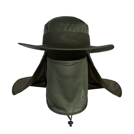 360 degree outdoor hat men summer sun hat male waterproof anti-UV fisherman  fishing hat (Army Green) - Walmart.com 77e11cfa7aa6