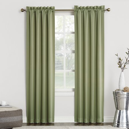 "84""x40"" Kenneth Blackout Rod Pocket Curtain Panel Green - Sun Zero"