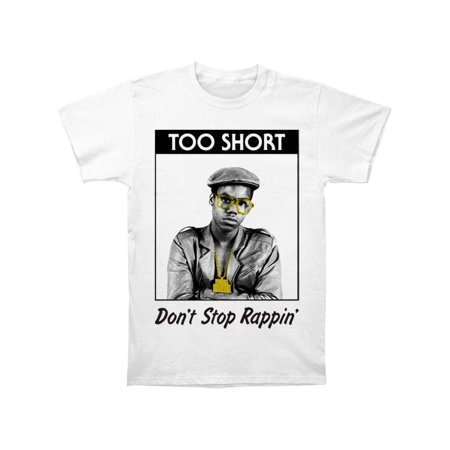 Too Short Men's  Don't Stop Rappin' T-shirt White (Too Short Don T Fight The Feeling)