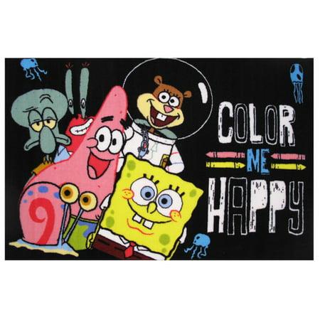 Fun Rugs Nickelodeon SpongeBob Color Me Happy Kids Rugs 51