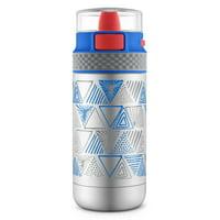 Ride Stainless Steel Water Bottle, Mint/Purple 14 oz