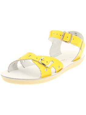Salt Water 1401-YELLOW: Girls Sandals by Hoy Shoe Sweetheart Shiny Yellow Sandal