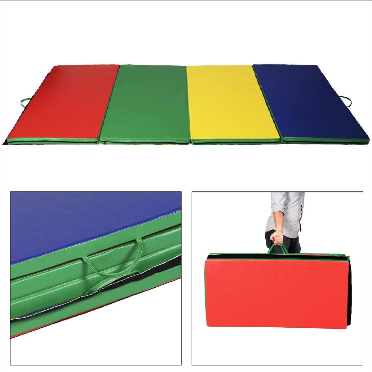 Apontus Thick Folding Exercise Gymnastics Mat Panel Gym Fitness Color
