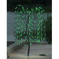 Lightshare 5.5 ft. Willow Tree - 200 LED Lights, Green Leaves