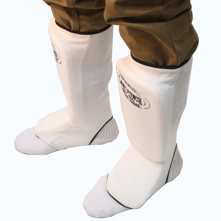Last Punch MMA Good Quality White Professional Martial Arts Shin Pads S-XL Size
