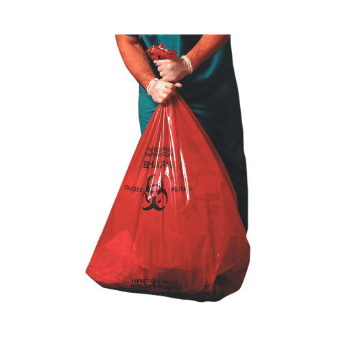 JAGUAR PLASTICS Health Care Low-Density Super Grade Liner 55-Gallon in Red