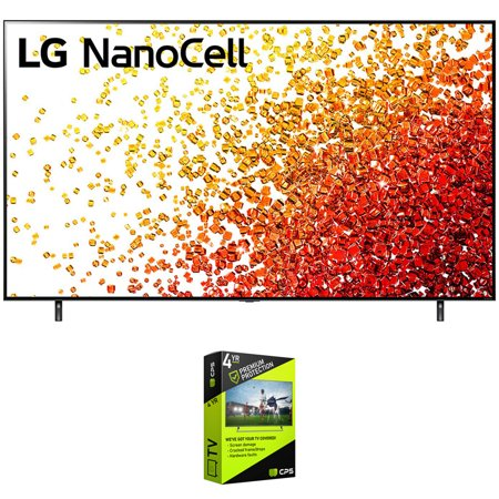 LG 55NANO90UPA 55 Inch HDR 4K UHD Smart NanoCell LED TV Bundle with Premium 4 Year Extended Protection Plan