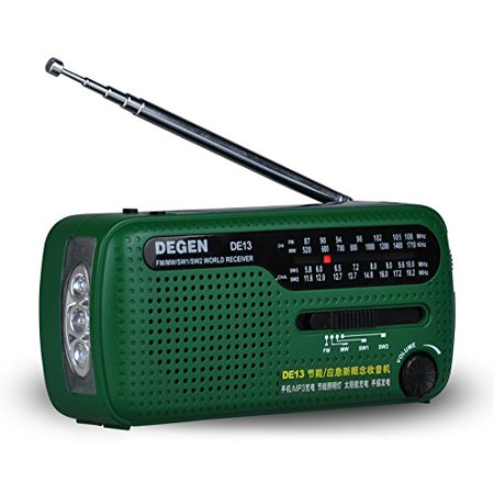 Baile Portable Emergency Solar Crank Am Fm Noaa Wb  Weather Radio With Led Flashlight  Cell Phone Portable Charger