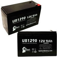 2x Pack - Country Home Products 46LAWN MOWER Battery Replacement -  UB1290 Universal Sealed Lead Acid Battery (12V, 9Ah, 9000mAh, F1 Terminal, AGM, SLA) - Includes 4 F1 to F2 Terminal Adapters