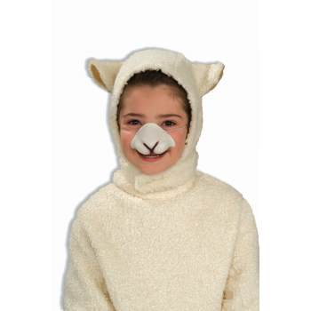 CHILD ANIMAL HOOD & NOSE-SHEEP - Kids Sheep Costume
