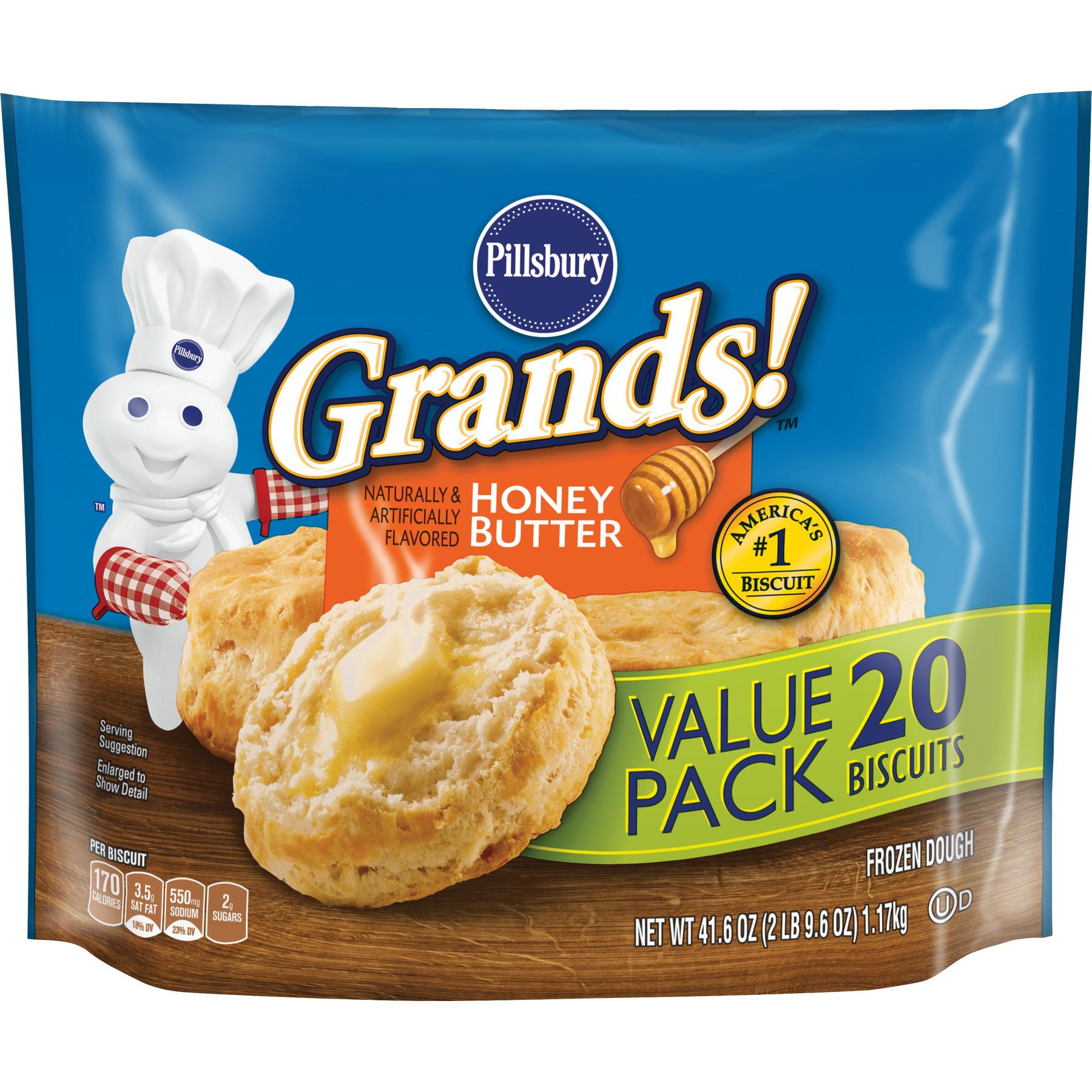 Pillsbury Grands! Honey Butter Biscuits Value Pack, 20 Ct, 41.6 oz