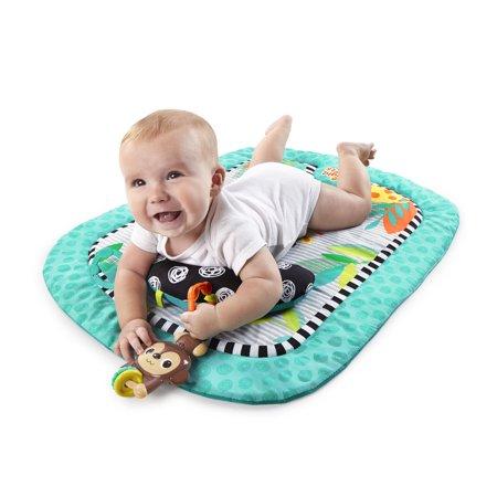 Bright Starts Tummy Time Prop Mat - Giggle Safari, Ages Newborn +