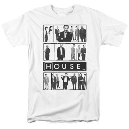 House Series Cast - House M.D. Medical Drama TV Series Fox Cast Cuddy Wilson Foreman Adult T-Shirt