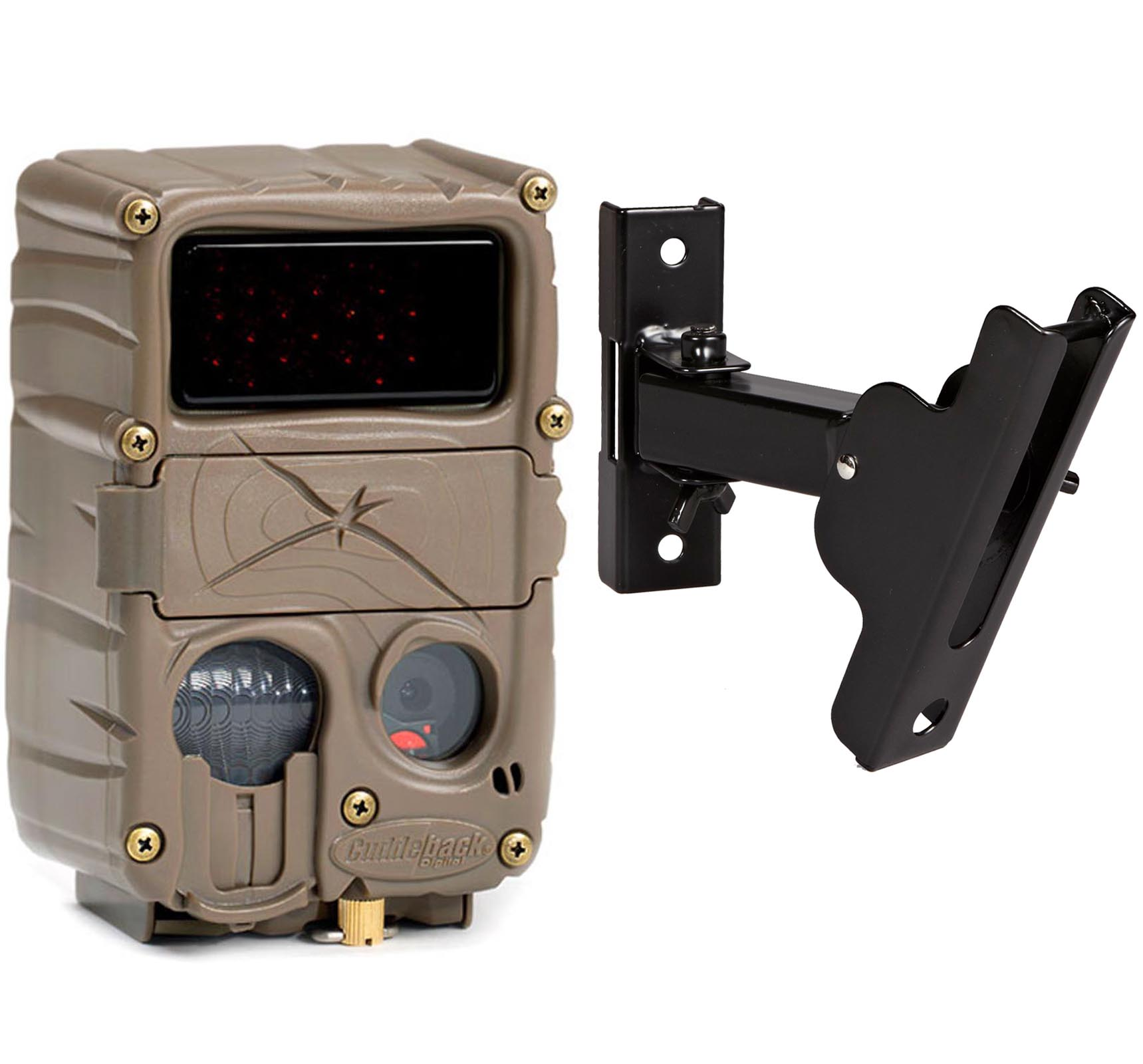 Cuddeback 20MP E3 Black Flash No Glow IR Trail Game Camera + Genius PTL Mount by Cuddeback
