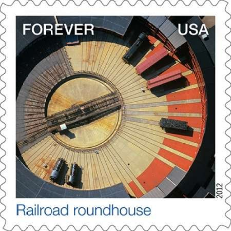 Railroad Roundhouse Canvas Art - US POSTAL SERVICE (24 x 24)