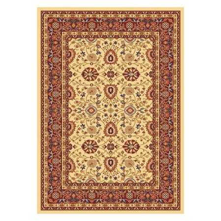 2 Classic Rectangle Rug (Classic Yazd 3.3X5.3 2803-130 Crm-Red Rectangle Rug)