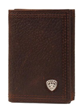 Ariat Accessories Men's Tfold Shield Wallet BROWN O/S