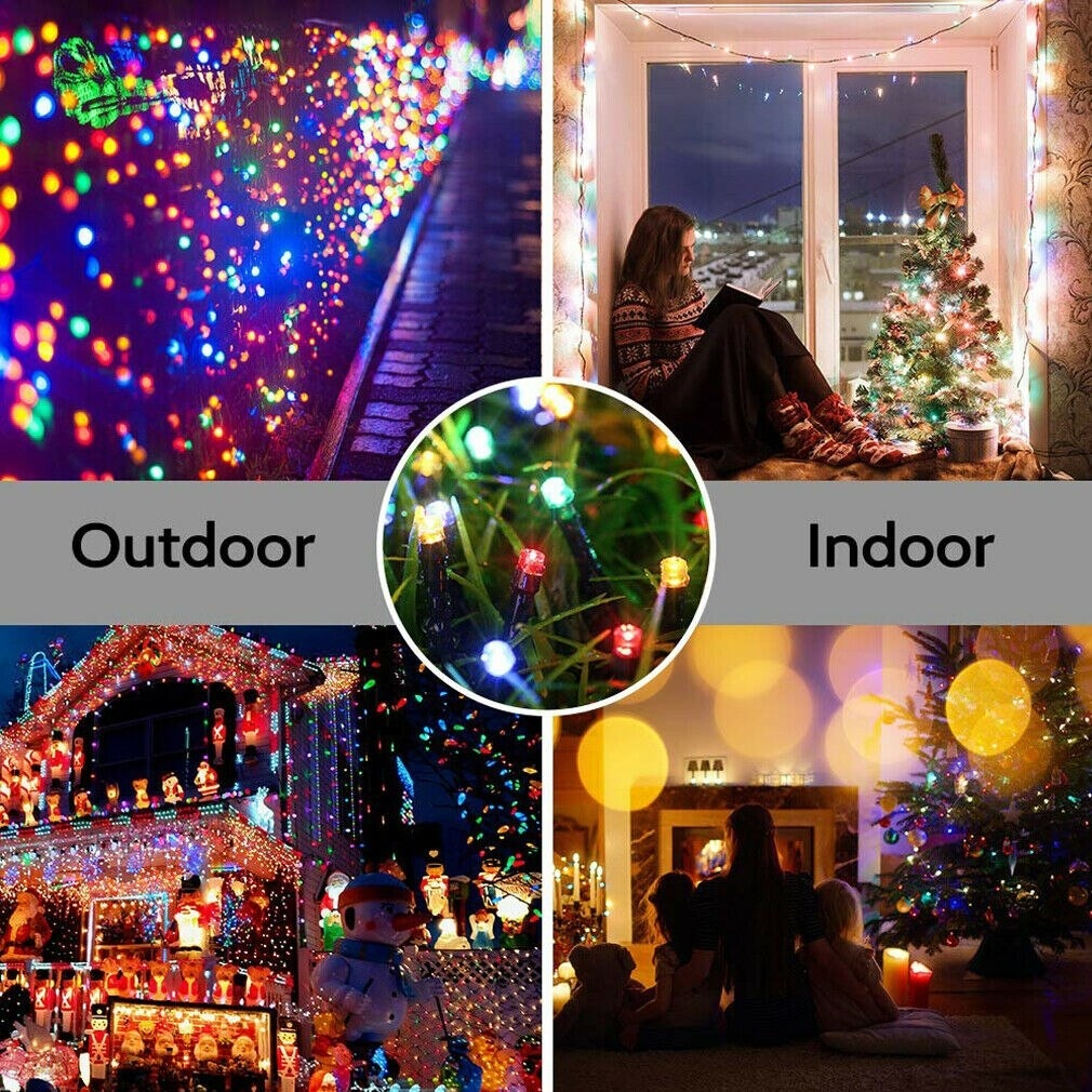 LED Solar Power Fairy Lights String Garden Outdoor Party Wedding Lamp New